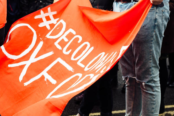 decolonise oxford banner rmf oxford march courtesy rhodes must fall 37